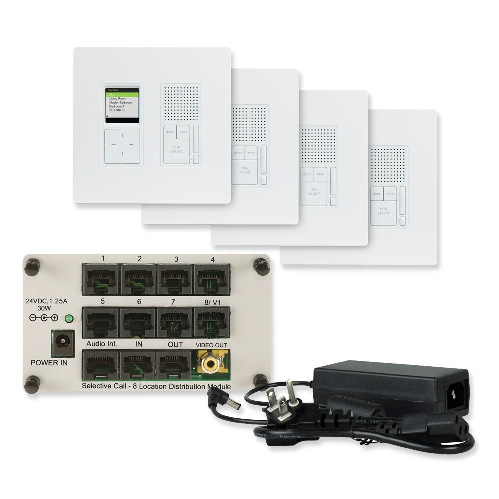 Legrand-On-Q IC7400WH IC7400-WH Radiant Selective Call 4 Room Intercom Kit OnQ legrand Radiant Selective Call 4 Room Intercom Kit, White, Replaces IC5400-Whwhite