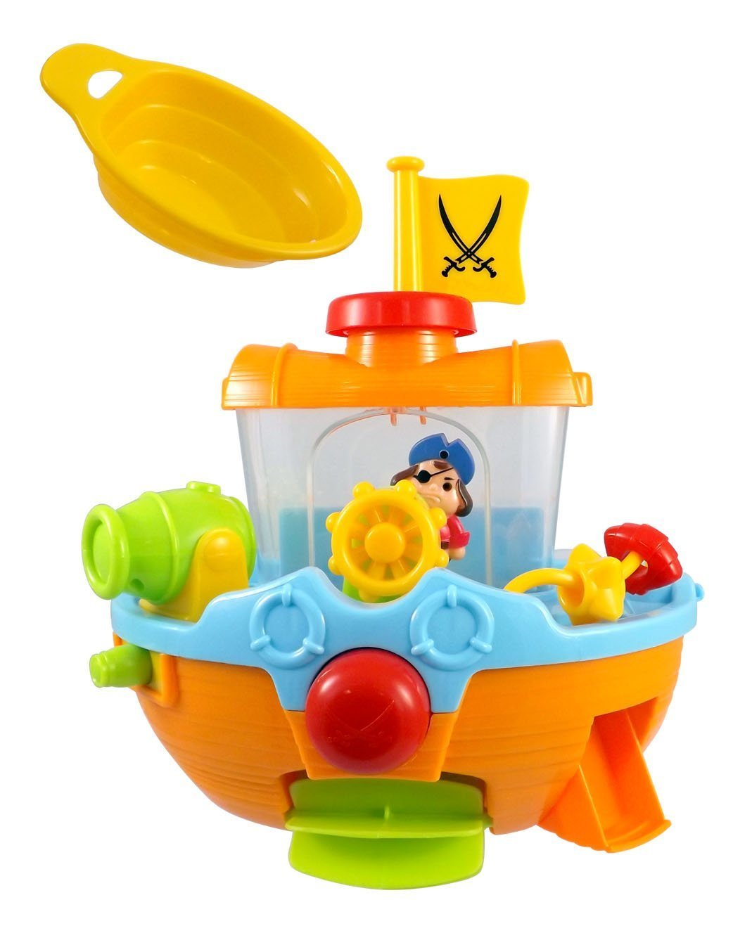 Pirate Ship Boat & Water Cannon Baby Bath Play Time Water Fun Toy ...