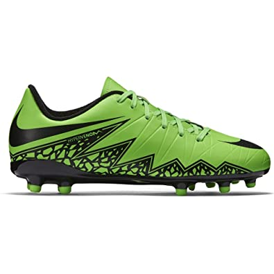 more photos 26b79 93fa0 Nike Jr. Hypervenom Phelon II FG Indoor Soccer Shoe (Green Strike, Black)