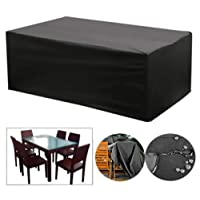 OOFIT Rectangular Table Cover, Furniture Cover Waterproof Oxford Polyester Outdoor Protection Large Patio Set