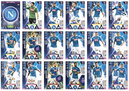 s League 2018/19 Napoli Full 18 Card Team Set ()