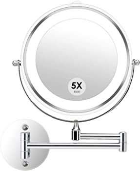 Alvorog Wall Mounted Makeup Mirror with LED Lighted