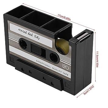 Portalápices / Soporte de Tinta Creative Forma de Cinta de Cassette Papelería de Almacenamiento para Hogar Ofcina y Estudio(Gris): Amazon.es: Oficina y ...