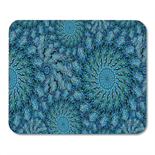 """Aikul Mouse Pads Colorful Zoanthid Zoa Coral in Peacock Teal Feather Mouse Mat 9.5"""" x7.9"""" Mouse Pad Suitable for Notebook Desktop Computers Office Accessories"""