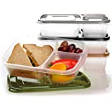 EasyLunchboxes 3-Compartment Bento Lunch Box Containers, Set of 4, Urban