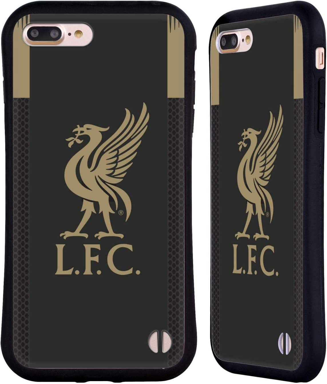 Head Case Designs Officially Licensed Liverpool Football Club Home Goalkeeper 2019/20 Kit Hybrid Case Compatible with Apple iPhone 7 Plus/iPhone 8 Plus