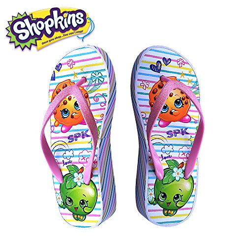 c88e437f69bb Shopkins Girls Wedge Sandals Sidewall