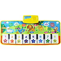 Prettyia Funny Baby Kids Toy Touch Keyboard Musical Carpet Mat Singing Animal Piano - #4