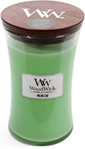 WoodWick Large Hourglass Scented Candle with Pluswick Innovation, Palm Leaf