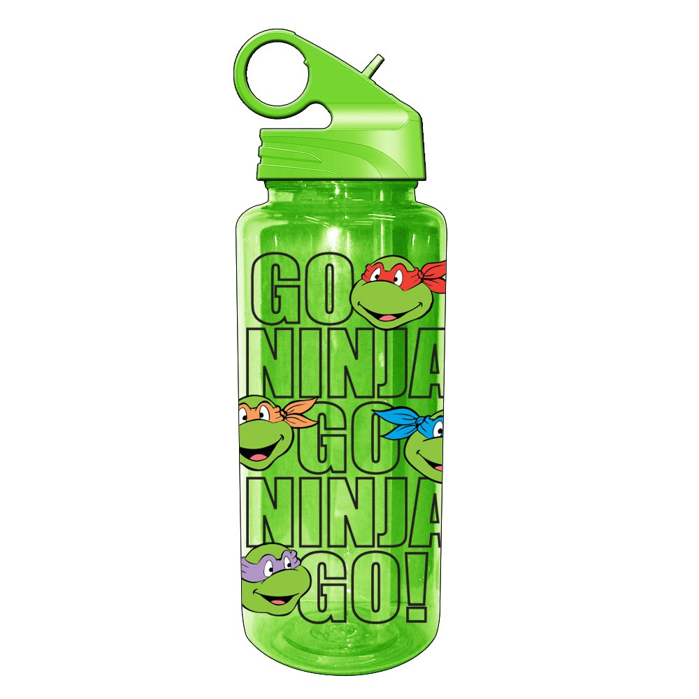 Silver Buffalo NT5589 Nickelodeon Teenage Mutant Ninja Turtles Go Ninja Go Tritan Water Bottle, 25-Ounces