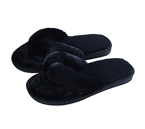 9522b5cfb4bd Image Unavailable. Image not available for. Color  Cozy Plush Flip Flops  Slippers for Women Non Slip Indoor House Spa Thong Slipper Fluffy Slide
