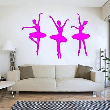 Ballerina Ballett Tanzerinnen Madchen Silhouette Vinyl Wandtattoo