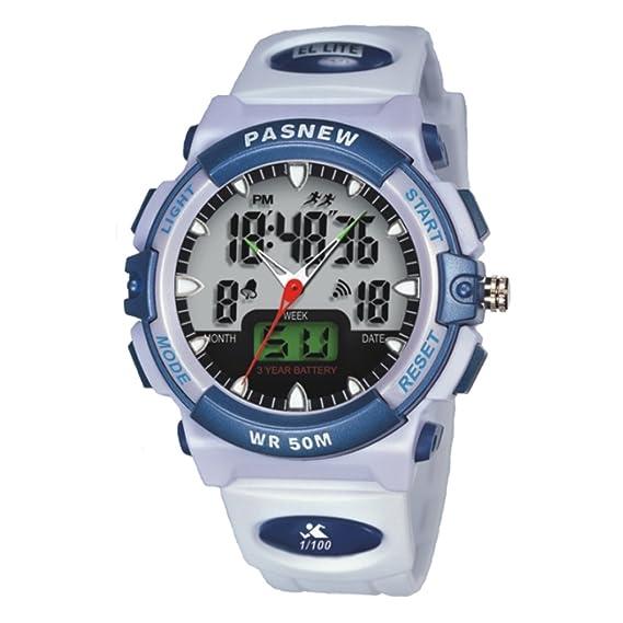 Mens relojes impermeable junior reloj electrónico de la manera-F