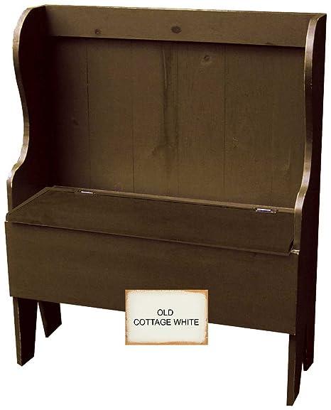 Sensational Amazon Com Sawdust City Deacon Bench Old Cottage White Lamtechconsult Wood Chair Design Ideas Lamtechconsultcom