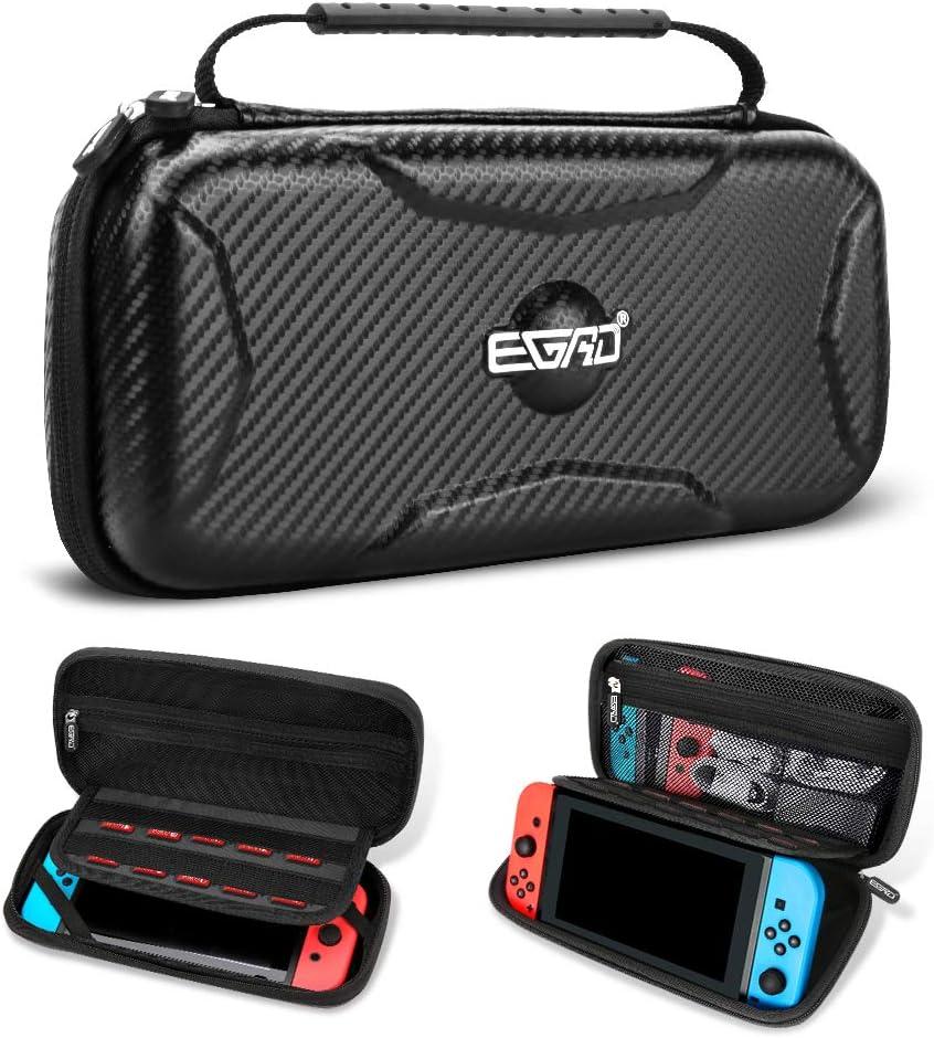 Funda para Nintendo Switch, Accesorios para Nintendo Switch, Carcasa de Protección Rigid Anti-Choques/Arañazo Llevar la 15 Juegos Adaptador Consola Cable Otros Accesorios Nintendo Switch Viaje Case