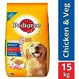 Pedigree Adult Dry Dog Food, Chicken & Vegetables – 15 kg Pack