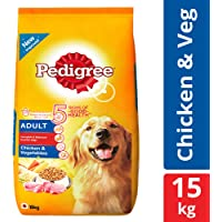 Pedigree Adult Dry Dog Food, Chicken & Vegetables – 15 kg Pack