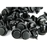 StaiBC Push-type Nylon Bumper Fender Flare Fastener Rivet Clips, 10mm, 40 Pieces/Pack