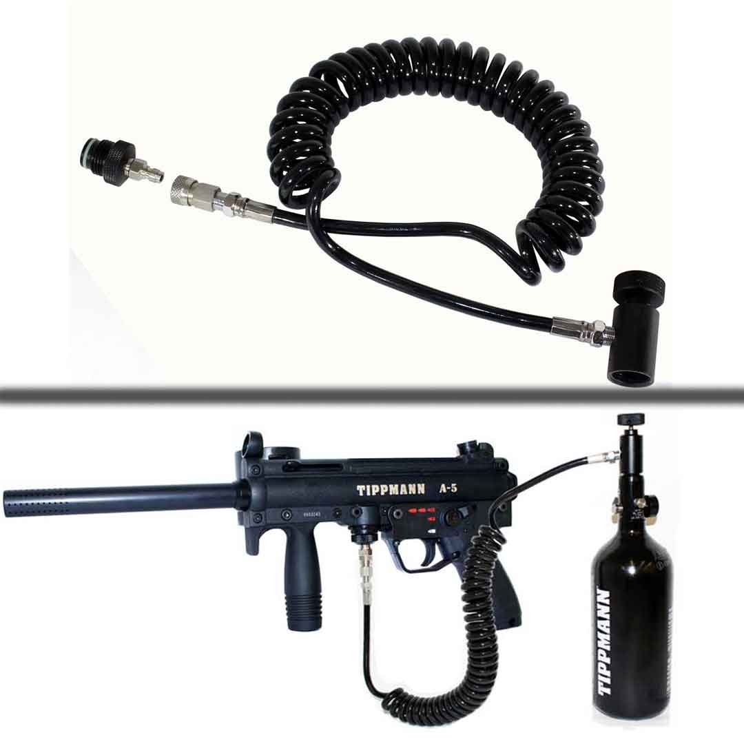 Trinity Paintball Coil Remote Hose Line Quick Disconnect Tippmann A5 Marker Replacement Parts TRINITY SUPPLY INC