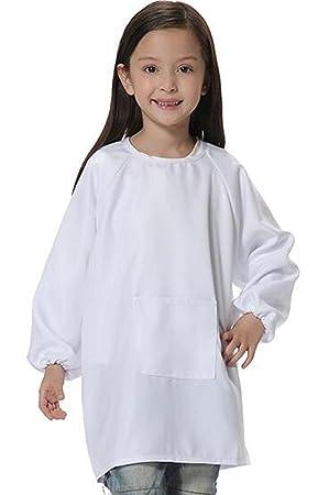 Bata larga para niños de diseño coreano (poliéster impermeable estilo delantal para pintar), de ER Shop, poliéster, Style-2, Height(1.2M-1.4M): Amazon.es: ...