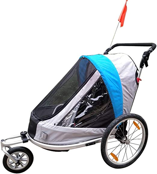 EVERAIE Remolque Bicicleta de niño 2-en-1 Doble 1 Asiento for ...