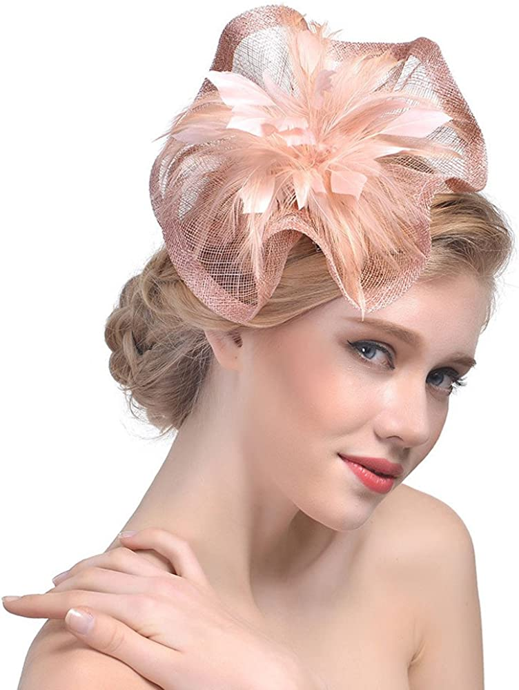Fascinator Feather Fascinators for Women Hat for Wedding Party Royal Banquet
