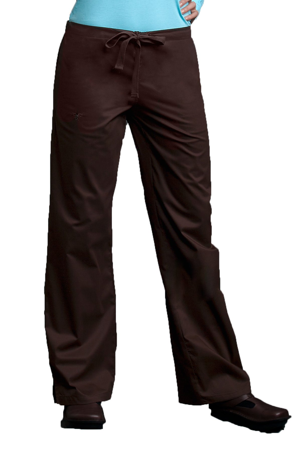 Med Couture Women's Signature 8705 Drawstring/Elastic 3 Pocket Scrub Pant- Expresso Brown- X-Large