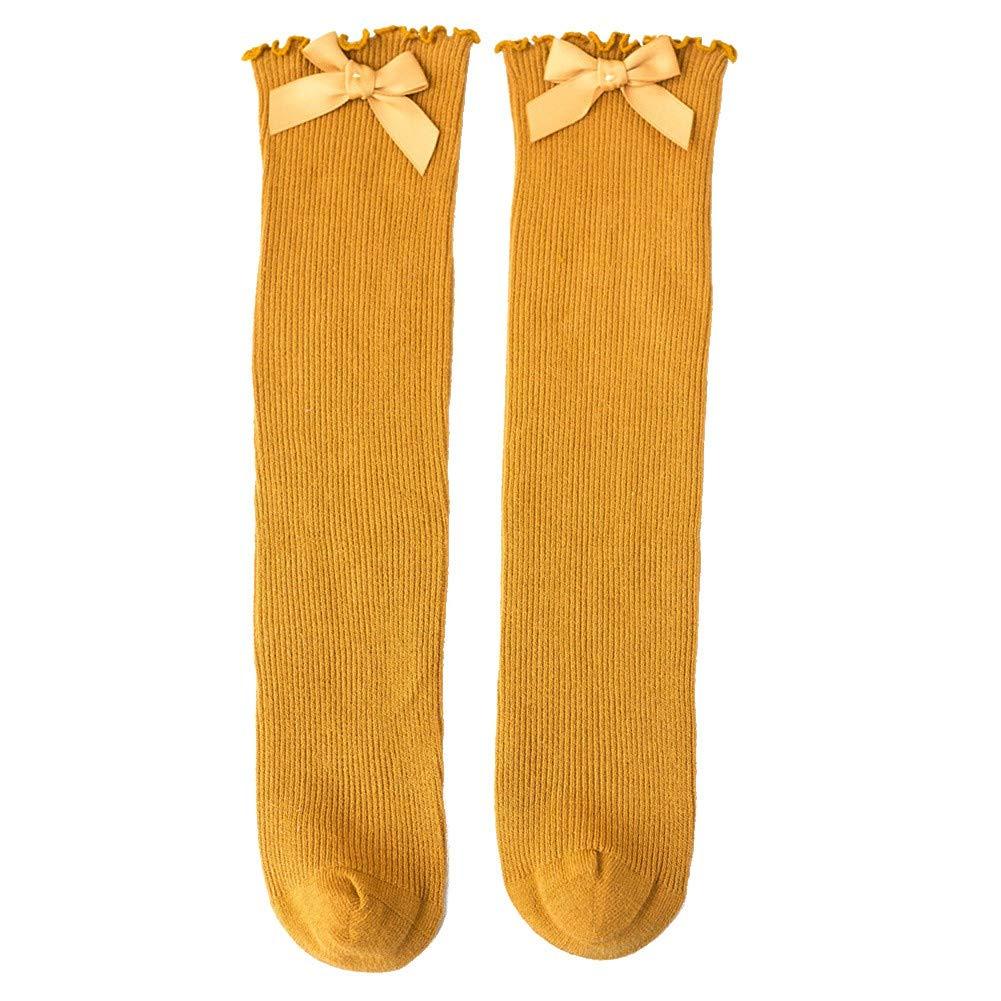 EFINNY Baby Girl Cute Socks Bowknot Design Cotton Long Socks Party Infant Children Soft Crib Leg Warmer