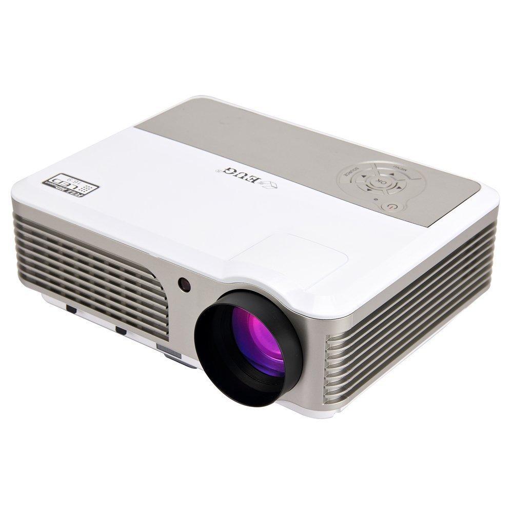 EUG 液晶プロジェクターホームシアター 2800ルーメン フルHD 1080p ledホームプロジェクター iPhone スマホ パソコン iPad DVD対応 映画 家庭用 USB HDMI VGA AV接続 B0749JB4QT