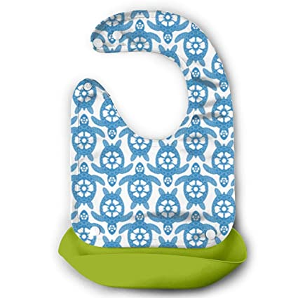1x New Baby Silicone Bib Washable Easy Clean Up Crumb Catcher Animal Pattern