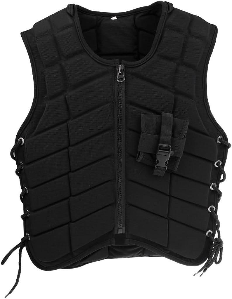 perfeclan Protector de Espalda Ecuestre - Chaleco de Protección Corporal para Jinete - Mujeres Hombres Chaleco de Seguridad para El Cuerpo de Equitación Chaleco