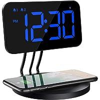 Mpow Reloj Despertador Digital con Cargador Inalámbrico, Brillo