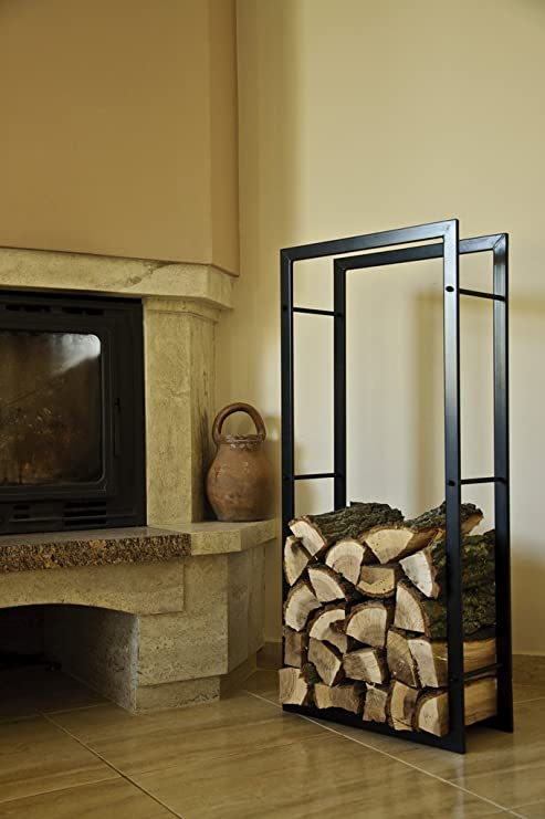 Amazon.com: DanDiBo estante de leña interior chimenea leña ...