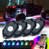 Xprite 3rd-Gen Multicolor Neon LED Light Kit RGB LED Rock Lights with Bluetooth Controller For Timing, Music Mode, Flashing