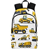 Forklift, Crane, Excavator, Tractor, Bulldozer, Truck Casual Daypack Travel Bag College School Backpack for Mens and…