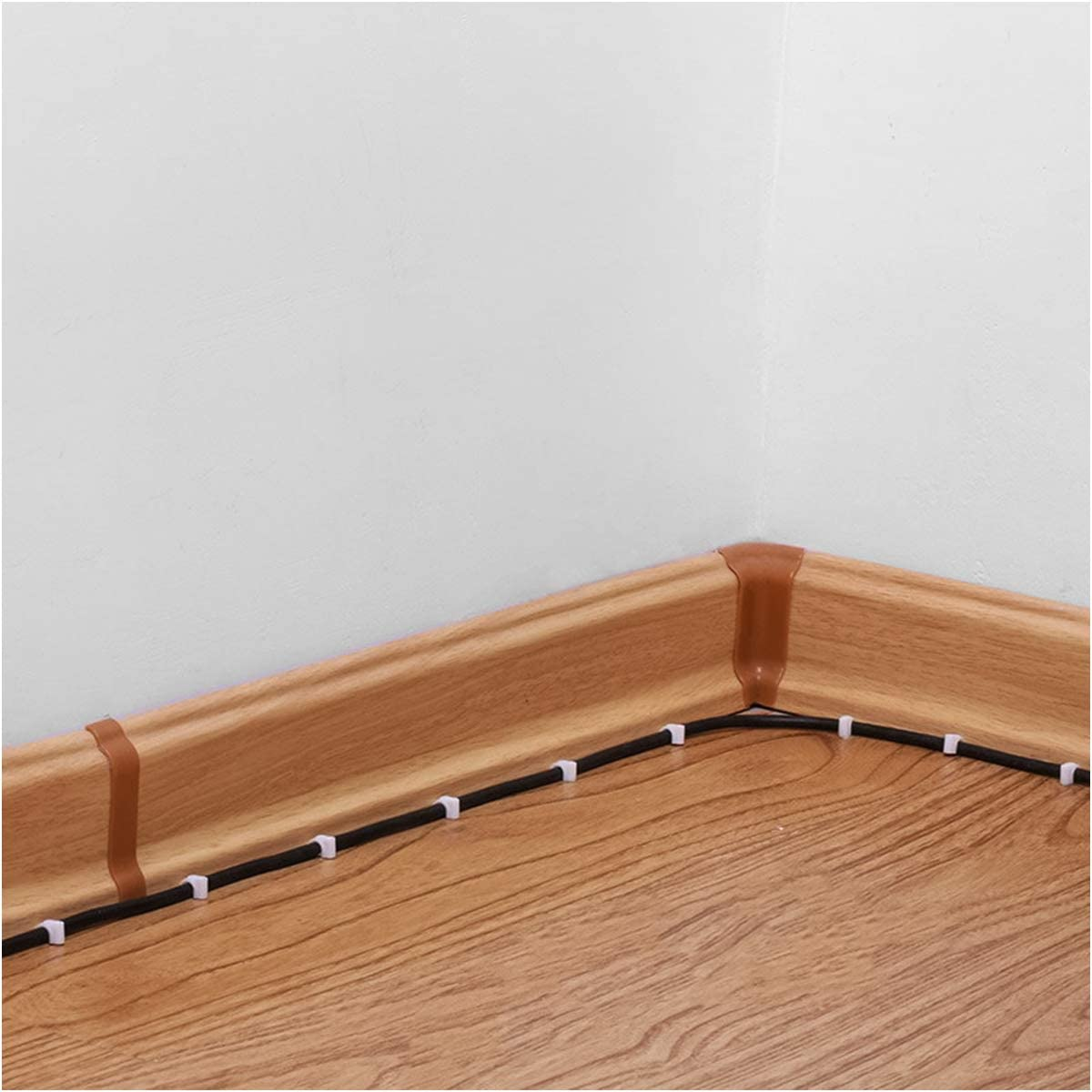 220pcs Abrazadera para Cable Accesorios de Cocina El Hogar Clips de Alambre Cable para Oficina Clip Del Cable El/éctrico Blancos con Clavos 8 mm y 10 mm Grapas para Cables Redondos