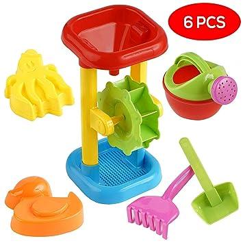 Bramble Juego de Juguetes de Playa, Arena y Agua - 6 Juguetes Divertidos - Ideal