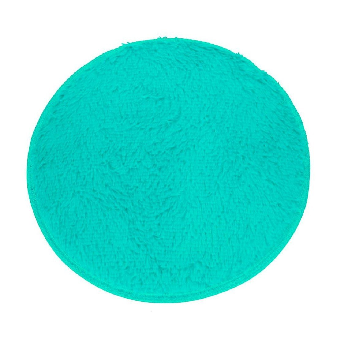 FAPIZI Soft Bath Bedroom Floor Shower Round Mat Rug Non-slip (Blue)