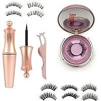 Magnetic Eyelashes False Eye Lashes Extension Liquid Eyeliner and Tweezer NEW (KS01)