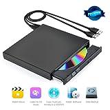 CDドライブ 外付記録型CDドライブ 外付けCDドライブ USB2.0 超薄型 ノートパソコン、ラップトップ PCに適合 Windows 2000/XP/Vista/Windows 7 Mac OS( 全てのバーション)対応可 ポーダブルなDVD+R DVD-R CD-ROM DVD-ROM CD-R CD-RWレコーダー CD-RW/DVD-R外付けプレイヤー光学式USB2.0記録型ドライブ 高速 静音 超スリム