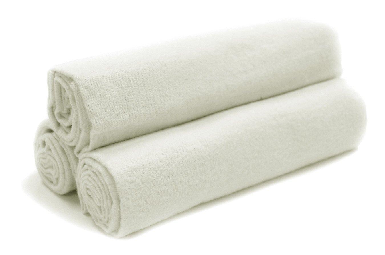 Tadpoles Organics Set of 3 Flannel Receiving Blankets, White Sleeping Partners brbboc009