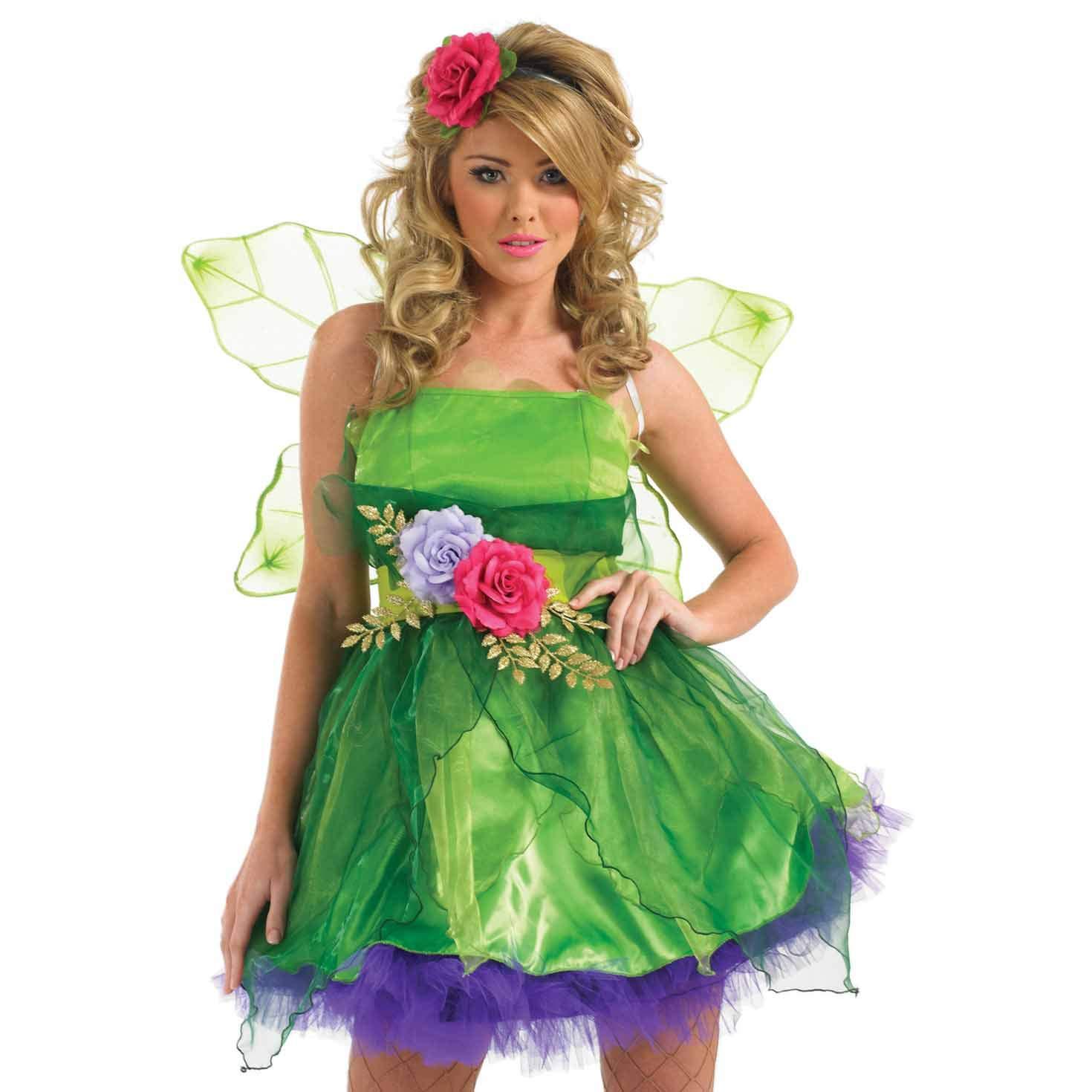 Fun Shack Verde Hada del Bosque Disfraz para Mujeres - S: Amazon ...