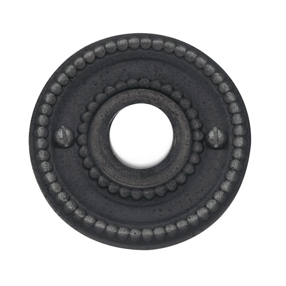 Baldwin 4850402 Beaded Bell Button, Distressed Oil Rubbed Bronze