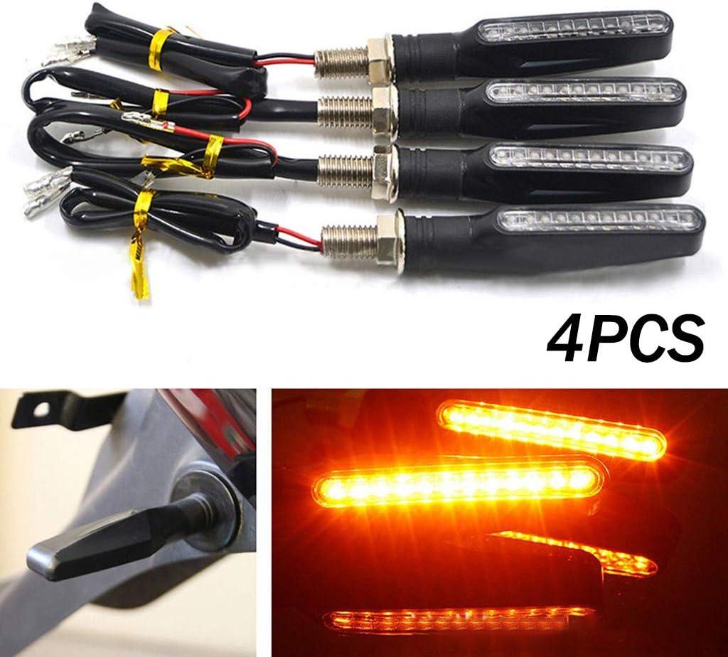 4pcs Motorcycle Motorbike LED Turn Signal Light Indicator Blinker Lamp Black