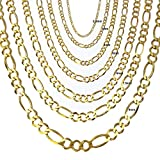 Joule Shop 10K Solid Yellow Gold Figaro Chain Necklace | 7.5mm width | 20''-30'' length (26)