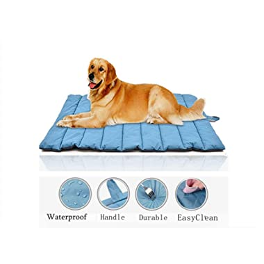 Cheerhunting Outdoor Dog Bed Portable Travel Dog Bed Extra Large Dog Mat Cat Mat Orange Oversize Waterproof Dog Mat Pet Mat
