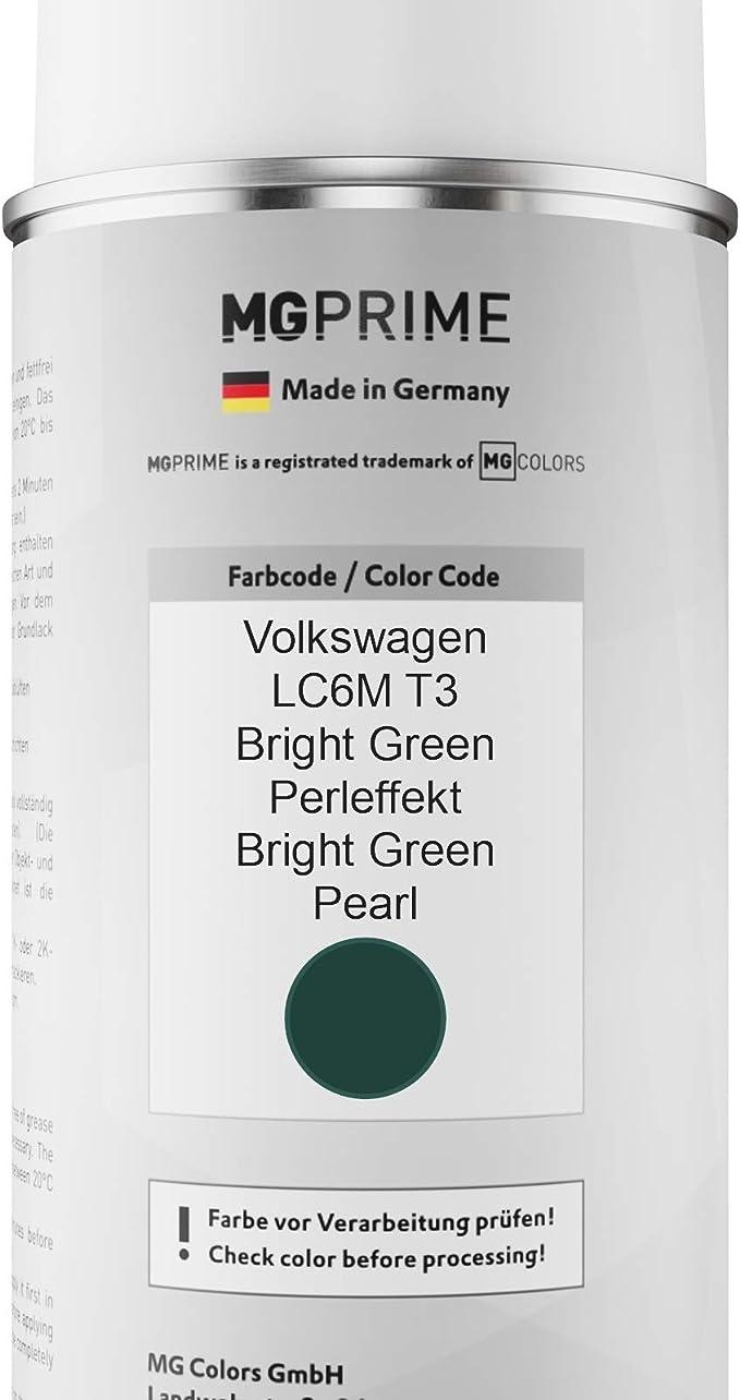 Mg Prime Autolack Sprühdosen Set Für Volkswagen Vw Lc6m T3 Bright Green Perleffekt Bright Green Pearl Basislack Klarlack Spraydose 400ml Auto