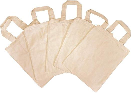 5 bolsas de tela para niños, sin impresión, para pintar, bordar ...