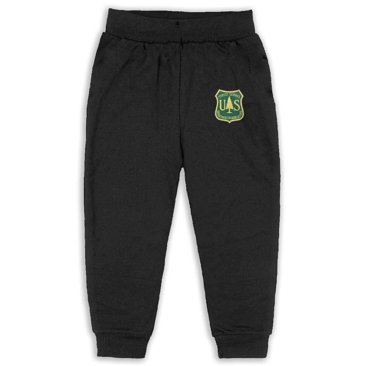United States Forest Service Kids Cotton Sweatpants,Jogger Long Jersey Sweatpants