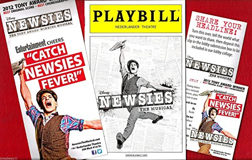 alan-menken-newsies-harvey-fierstein-corey-cott-2012-playbill-and-flyers